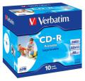 CDR Verbatim 700MB 52x  do nadruku  Jewel Case *10