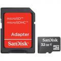 - karta pamieci Micro Secure Digital   32GB  SDHC  SanDisk + Adapter SecureDigital!