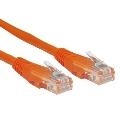 Kabel RJ45/RJ45  2 m    Patchcord  Kategoria 5e  Pomarańczowy